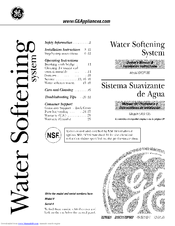 GE SmartWater GXSF18G Owner's Manual & Installation Instructions