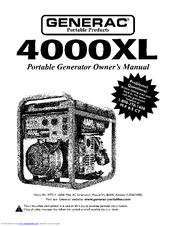 GENERAC POWER SYSTEMS 4000XL 9777-2 OWNER\'S MANUAL Pdf Download.