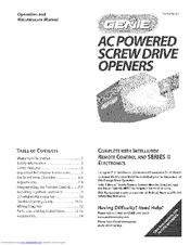 genie ac powered screw drive openers manuals rh manualslib com genie pro screw drive manual genie pro screw drive manual learn button