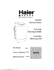 Haier HLP21E - Pulsator Wash With Tub User Manual