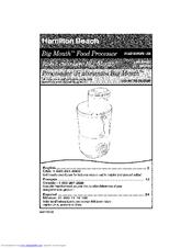 hamilton beach big mouth food processor manual