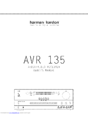 harman kardon avr 135 manuals rh manualslib com Harman Kardon AVR 146 Harman Kardon AVR 125