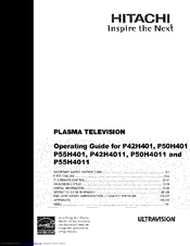 hitachi p55h4011 manuals P42H401 Parts Hitachi Plasma TV Problems