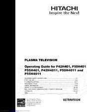 Hitachi P50h4011 Operating Manual Pdf Download Manualslib