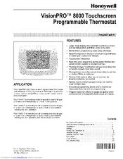honeywell visionpro th8110 manuals rh manualslib com Honeywell Programmable Thermostat Owner Manual Honeywell Programmable Thermostat User Manual