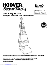 hoover steamvac f5835 900 manuals rh manualslib com Hoover Uh71012 Owner's Manual Hoover SpinScrub Carpet Cleaner Manuals