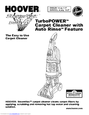 hoover steamvac f7428 900 owner s manual pdf download rh manualslib com Hoover SteamVac Carpet Cleaner Manual Hoover SteamVac SpinScrub Manual