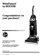 hoover windtunnel u5461 900 manuals rh manualslib com hoover windtunnel vacuum manual pdf hoover windtunnel vacuum instructions