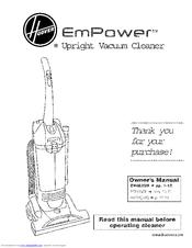 hoover empower u5266900 owner s manual pdf download rh manualslib com Hoover Empower Upright Vacuum Hoover Empower Vacuum Belts