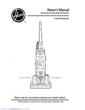 hoover u5184 900 whisper cyclonic upright vacuum manuals rh manualslib com hoover windtunnel vacuum owners manual hoover linx cordless stick vacuum owners manual