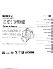 fujifilm finepix hs25exr manuals rh manualslib com FinePix HS25EXR Accessories Fuji FinePix HS25EXR