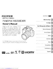 FujiFilm FINEPIX HS30EXR Owner's Manual