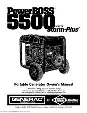 generac power systems powerboss 5500 storm plus manuals rh manualslib com PowerBoss 5500 Parts Manual PowerBoss 5500 Watt Portable Generator