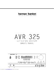 harman kardon avr 325 owner s manual pdf download rh manualslib com Harman Kardon AVR 7200 Review Harman Kardon AVR 2700