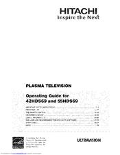 hitachi 55hds69 ultravision hds series manuals rh manualslib com Hitachi TV Hitachi 55 Plasma TV