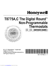 HONEYWELL Digital Round T8775C Owner's Manual