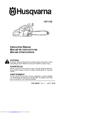 HUSQVARNA 142 Instruction Manual