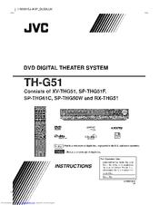 jvc thg51 th g51 home theater system manuals rh manualslib com JVC TH C60 JVC TH-BA1 Sound Bar