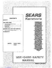 Kenmore 33027 Use Use, Care, Safety Manual