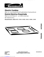 Kenmore 363.43482 Use & Care Manual And Installation Instructions