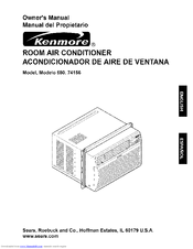Kenmore 580.74156 Owner's Manual