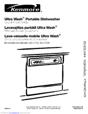 kenmore ultra wash 665 17722 manuals rh manualslib com kenmore ultra wash dishwasher maintenance kenmore ultra wash dishwasher instruction manual