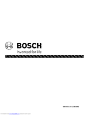 BOSCH SHE33P05UC/59 Manual
