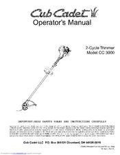 Cub cadet cc3000 user manual   60 pages.