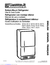Kenmore 69279 Use & Care Manual