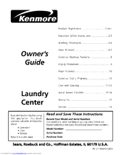 Kenmore 41794814301 Owner's Manual