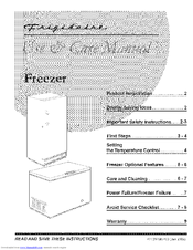 FRIGIDAIRE FFC07K2CW8 Use & Care Manual