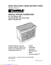 Kenmore 758.296140C Operator's Manual