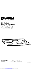 Kenmore 911.43675 Use & Care Manual