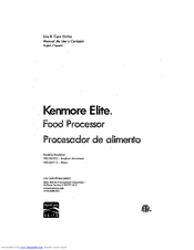 Kenmore 100.06912 Use & Care Manual