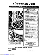KITCHENAID KERC507 Use And Care Manual