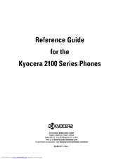 Kyocera 2100 Series Reference Manual