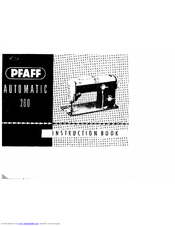 PFAFF Automatic 260 Instruction Book