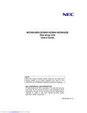 NEC NF2300-SR413E User Manual