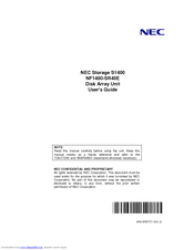 NEC S1400 NF1400-SR40E User Manual