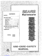 Kenmore 9119592990 Use Use, Care, Safety Manual