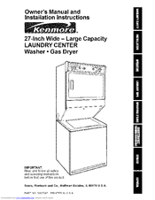 Kenmore 11098762790 and Owner's Manual And Installation Instructions