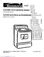 Kenmore 95722 Use & Care Manual