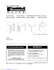 Kenmore ELITE 141.16730900 Use And Care Manual