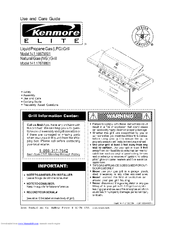 Kenmore ELITE 141.16678801 Use And Care Manual