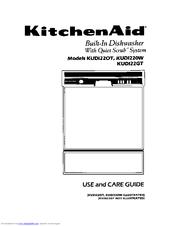 Kitchenaid Kudi220w Use And Care Manual Pdf Download
