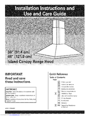 KitchenAid KICU265HSS1 Installation Instructions And Use And Care Manual