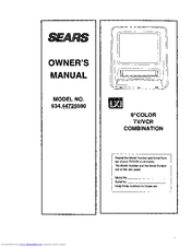 sears lxi 934 44725590 manuals rh manualslib com Sony TV Videoscope Coffee Table LXI TV Input