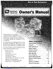 maytag performa washer owners manual