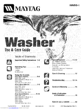 Maytag HAVBB-1 Use & Care Manual