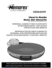memorex md6451blk personal cd player manuals rh manualslib com Anti-Skip CD Player Memorex Personal CD Player